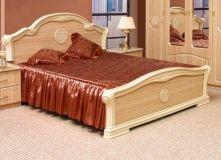 Кровать 2-сп 1.8 м яблоня светлая Спальня Венеция Світ меблів