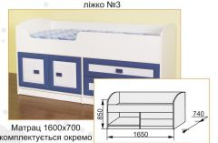 Кровать нижняя №3 Твинс Сокме