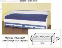 Кровать нижняя №1 Твинс Сокме