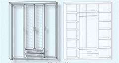 Шкаф 4D2S (без зеркал) Джоконда